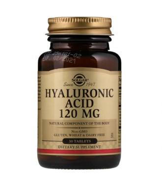 Solgar Kwas Hialurony Hyaluronic Acid 120mg 30 tabletek